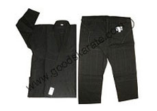 BLACK BJJ Gi Without Custom Patches