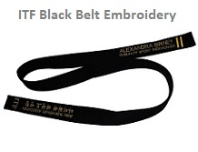 ITF Black Belts embroidery